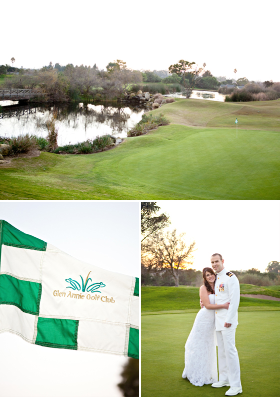 Wedding portraits of a Santa Barbara wedding photographed at Glen Annie Golf Course by Lavender & Twine, Charming Wedding Photography.