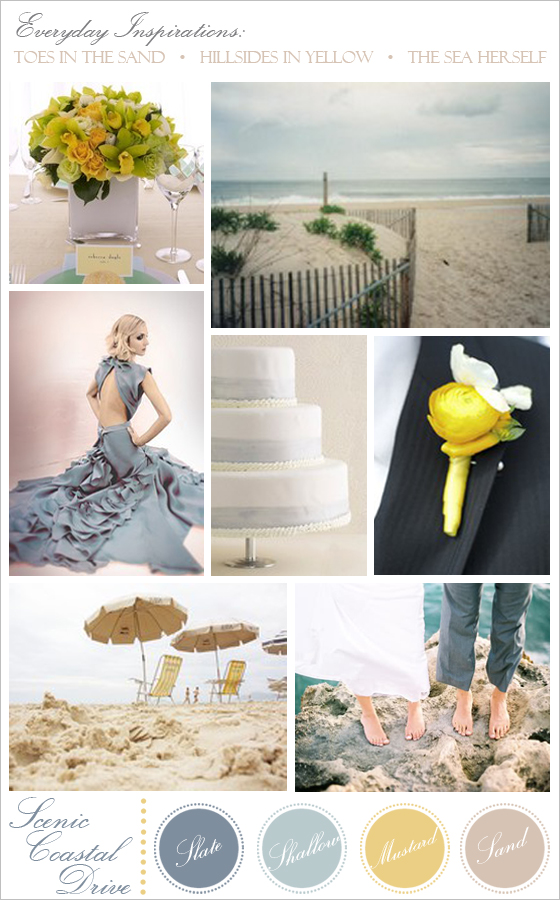 Wedding and bridal inspiration board.