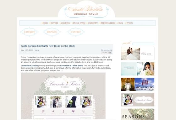 Lavender & Twine Photography featured on the Santa Barbara Wedding Style Blog.