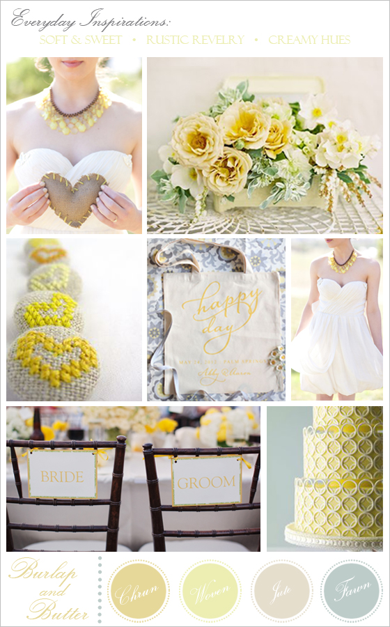 A wedding inspiration board created by Southern California wedding photographer, Lavender & Twine.