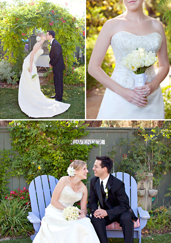 Lavender Inn wedding, Ojai California.