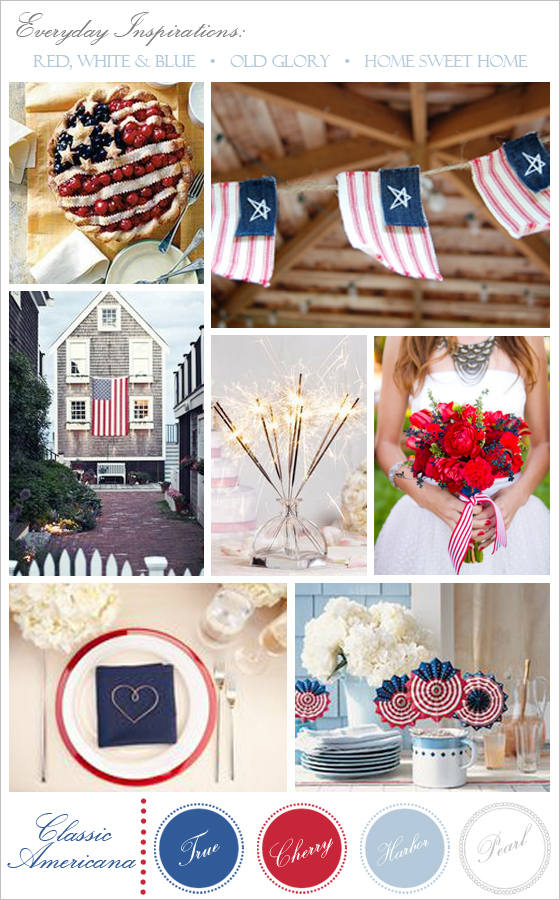 4th of July wedding inspiration by Lavender & Twine.