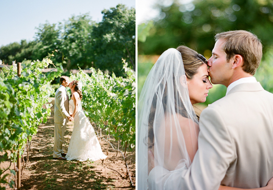 Natural light wedding photography, Ojai California.