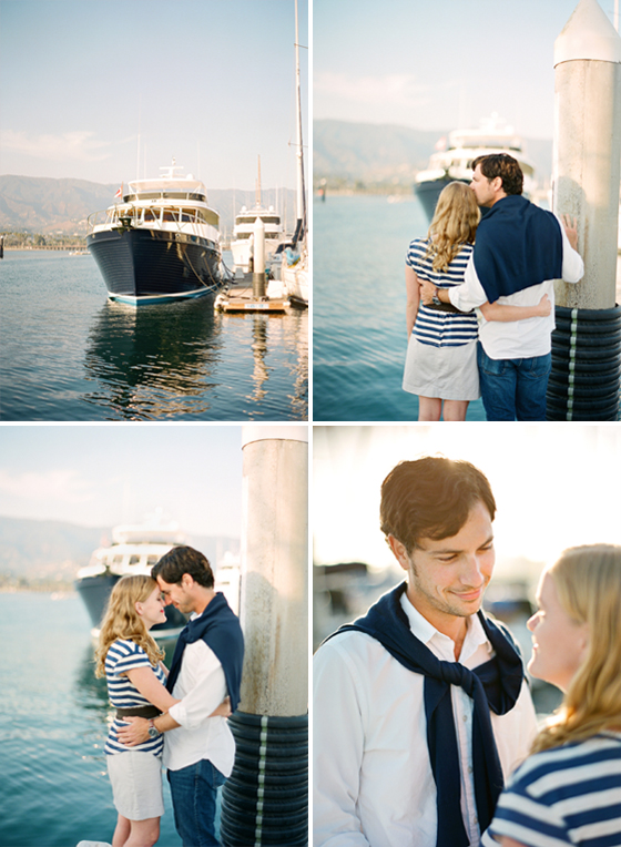 An engagement session at the Santa Barbara Harbor.