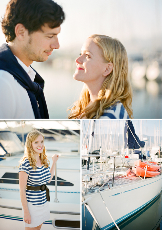 An engagement session photographed at the Santa Barbara Harbor.