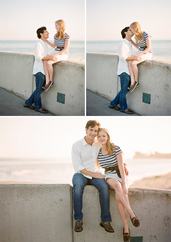 A nautical engagement session phographed at the Santa Barbara Harbor