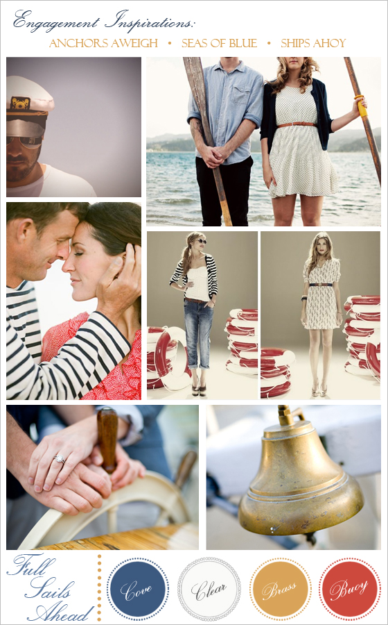 Nautical engagement session ideas.