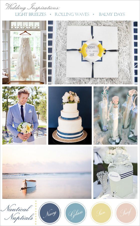 Ideas for a nautical wedding.