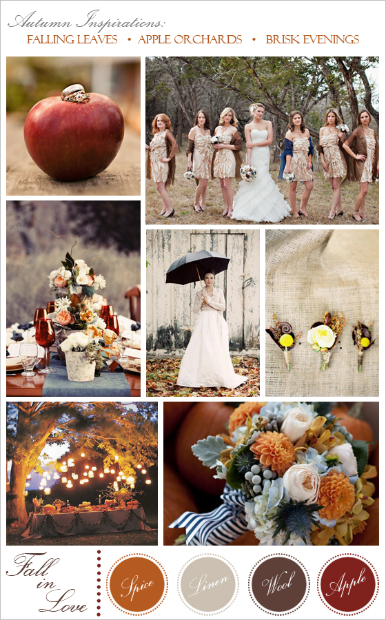 Autumn wedding ideas by Lavender & Twine.