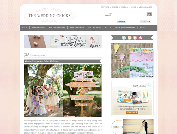 A beautiful Ojai wedding photographed by Lavender & Twine featured on The Wedding Chicks blog.