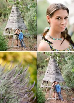 Engagement photographs by Ojai wedding photographers, Lavender & Twine.