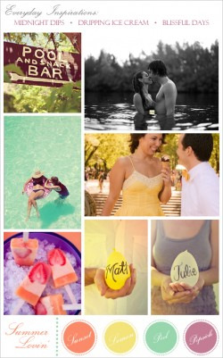Inspirations for a sultry, summery engagement shoot.