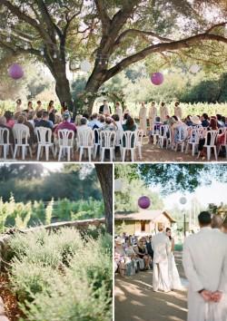 An Ojai vineyard wedding photographed by Lavender & Twine.
