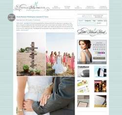 Lavender & Twine featured on Style Me Pretty